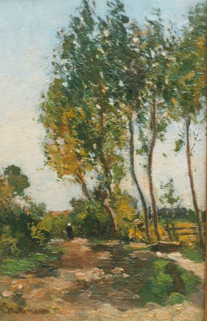 Stutterheim L.P.  | A country road, oil on panel 24.8 x 16.4 cm, signed l.l.