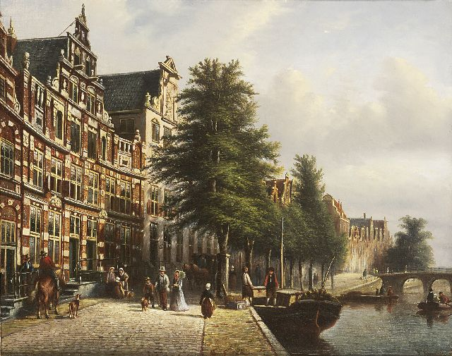 Johannes Franciscus Spohler | The  Bartolottihuis in Amsterdam (Herengracht 170-172), oil on canvas, 35.5 x 44.5 cm, signed l.r. and painted 1879