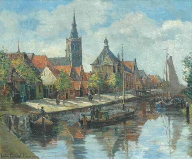 Anna Lehmann | The harbour of Oudewater, oil on canvas, 50.2 x 60.4 cm, signed l.l. and painted circa 1927