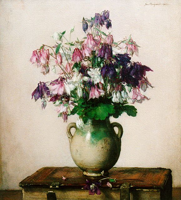 Jan Bogaerts | A flower still life, oil on canvas, 55.2 x 50.0 cm, signed u.r. and dated 1929