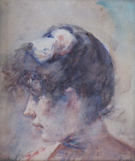 Paul Rink | Dolores, watercolour on paper, 20.3 x 17.0 cm, signed l.r.