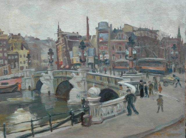 Johanna Pieneman | The Blauwbrug in Amsterdam, oil on board, 36.4 x 48.4 cm, signed l.r. and painted ca. 1930