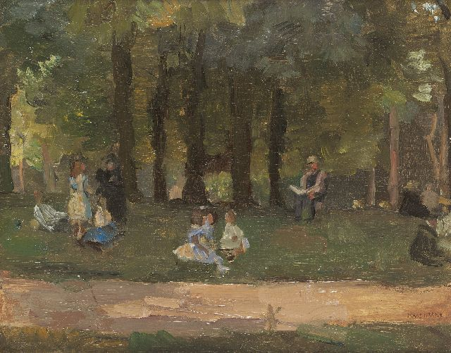 Israels I.L.  | In the park, oil on canvas, 32.2 x 40.6 cm, signed l.r.
