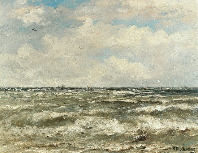 Hendrik Willem Mesdag | At open sea, oil on canvas, 40.2 x 51.3 cm, signed l.r.