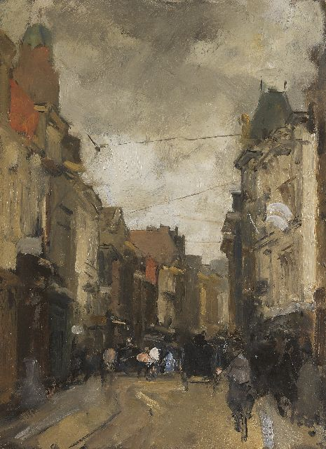 Floris Arntzenius | The Gravenstraat, The Hague, oil on panel, 32.0 x 23.7 cm