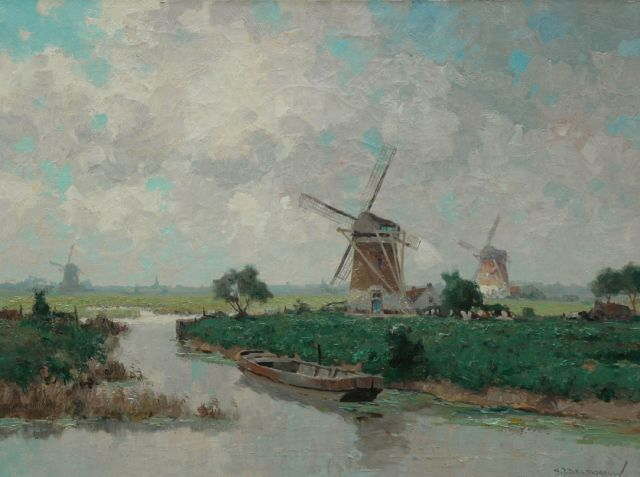 Gerard Delfgaauw | A polder landscape in summer, oil on canvas, 60.2 x 80.4 cm, signed l.r.