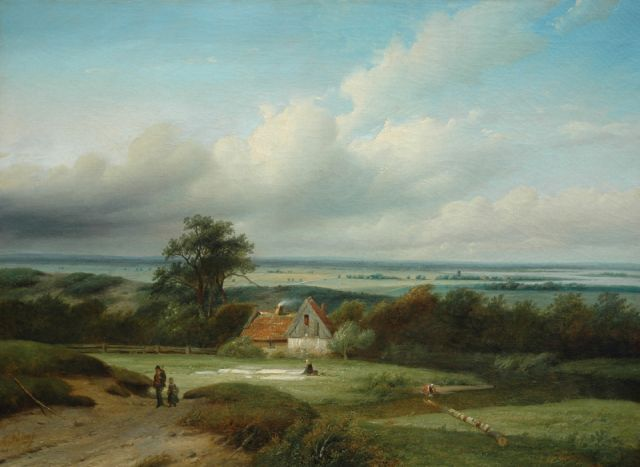 Matthias Parré | Behind the dunes near Haarlem, oil on canvas, 66.9 x 90.4 cm, signed l.l.