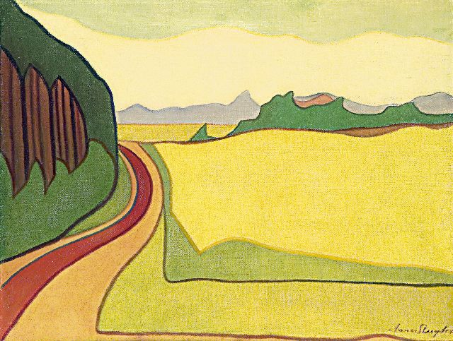 Anna Sluijter | Landscape, Blaricum, oil on canvas, 55.3 x 71.3 cm, signed l.r. and dated ca. 1914