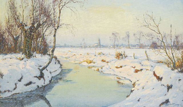 Johan Meijer | A sunny winter's day, Blaricum, oil on canvas, 61.4 x 101.1 cm, signed l.r.