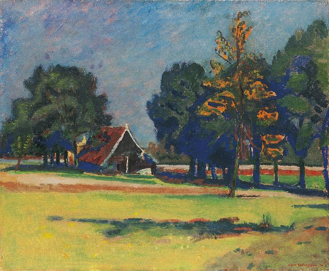 Wiegers J.  | Landscape Twenthe, oil on canvas, 50.4 x 61.0 cm, signed l.r. and painted '40