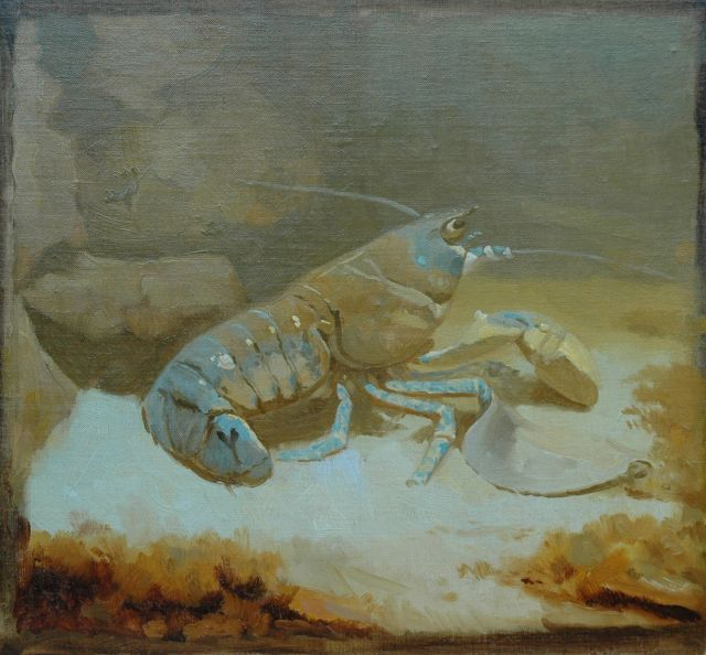 Gerrit Willem Dijsselhof | Lobster, oil on canvas laid down on panel, 25.0 x 27.4 cm