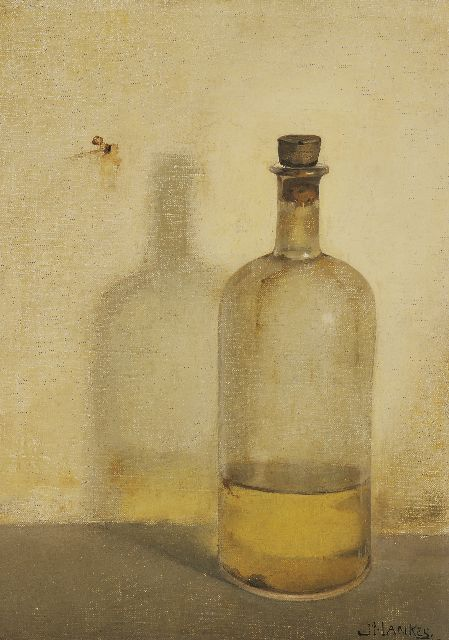 Jan Mankes | Oil bottle, oil on canvas, 25.0 x 17.8 cm, signed l.r. and dated '09