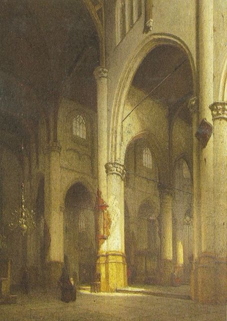 Jan Jacob Schenkel | The Groote kerk, Rotterdam, oil on panel, 62.5 x 48.0 cm, signed l.l.