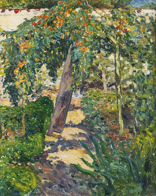 Valtat L.  | L'arbre dans le jardin (Tree in garden), oil on canvas 81.0 x 65.0 cm, signed stamped l.r. with initials and painted 1896