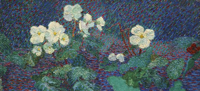 Smorenberg D.  | Flowers, oil on canvas 49.2 x 104.2 cm, signed l.r. and painted ca. 1912-1914