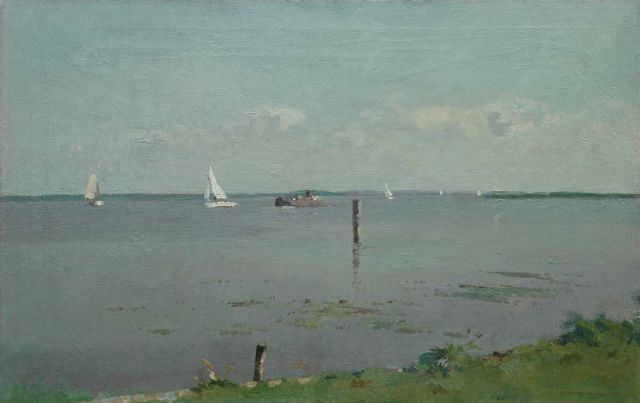 Cornelis Vreedenburgh | Sailing boats on the Braassemermeer, oil on canvas, 45.9 x 70.5 cm, signed l.r. and dated 1936