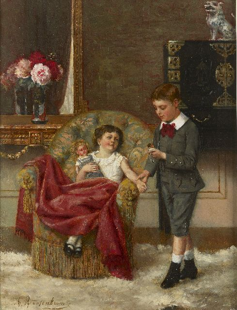 Albert Roosenboom | The young doctor, oil on canvas, 34.0 x 25.7 cm, signed l.l. and dated 1887 on the reverse