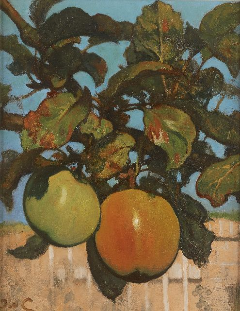 Jacobus van Looy | Apples, oil on panel, 37.1 x 29.2 cm, signed l.l. with initials