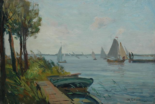 David Schulman | Sailing boats, oil on painter's board, 31.9 x 48.0 cm, signed l.r.