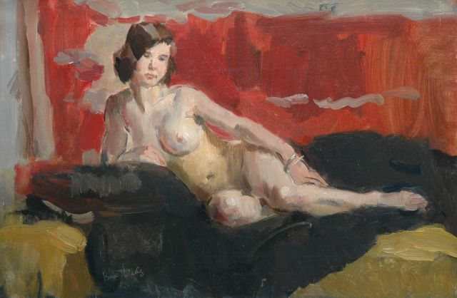 Israels I.L.  | A female nude, oil on canvas, 40.0 x 60.3 cm, signed l.l.