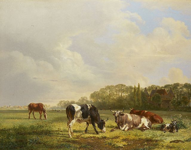 Pieter Gerardus van Os | Cattle at pasture, oil on canvas, 69.7 x 88.0 cm, signed r.o.c. and dated 1834