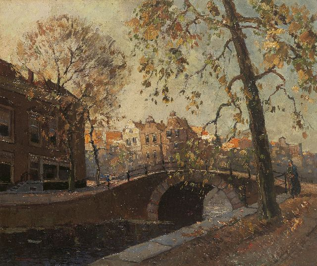 Aris Knikker | A city view with bridge, Amsterdam, oil on canvas, 46.4 x 55.3 cm, signed l.l.