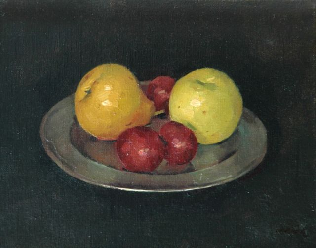 Frits Verdonk | Fruit still life, oil on canvas, 24.0 x 30.0 cm, signed l.r.