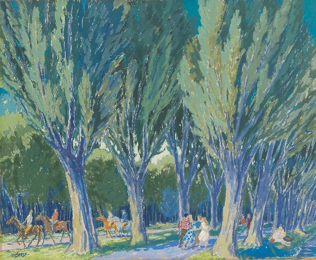 Henk Melgers | The Amsterdam Bos (Wood), gouache on paper, 45.7 x 55.8 cm, signed l.l.