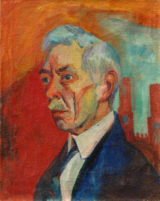 Wiegers J.  | Portrait of a man, oil on canvas, 48.6 x 38.6 cm, signed r.m. (above the shoulder) and dated '30