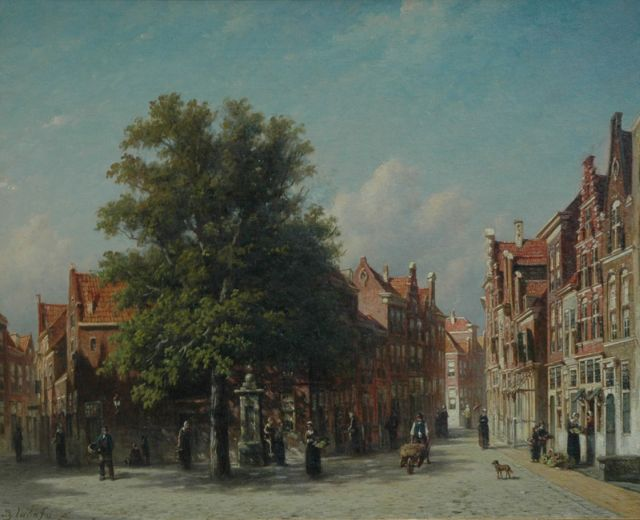 Petrus Gerardus Vertin | A town view, oil on canvas, 49.0 x 60.8 cm, signed l.l.
