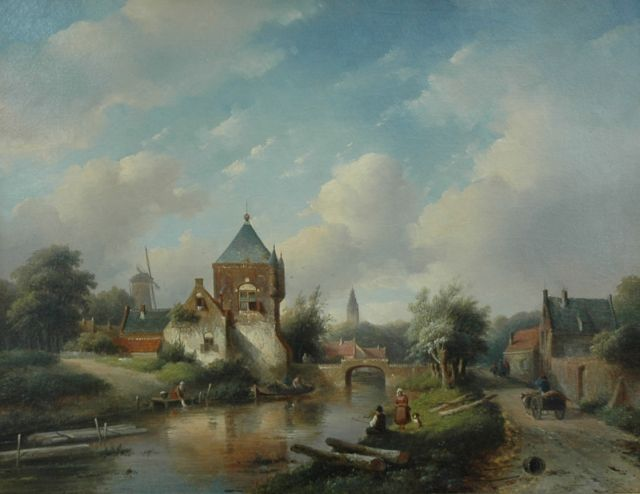 Jan Jacob Spohler | A view of a village in summer, oil on canvas, 67.0 x 52.0 cm, signed l.r.