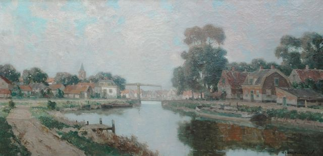 Gerard Delfgaauw | Near Loenen, oil on canvas, 40.5 x 80.5 cm, signed l.r. and painted ca. 1940