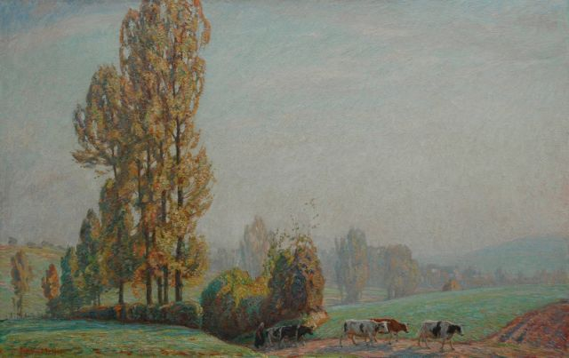 Johan Meijer | Autumn morning, oil on canvas, 64.3 x 100.3 cm, signed l.l.