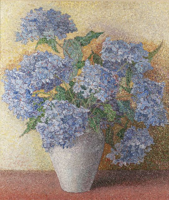 Jakob Nieweg | Hortensia, oil on canvas, 85.5 x 75.0 cm, signed l.r. and dated 1926