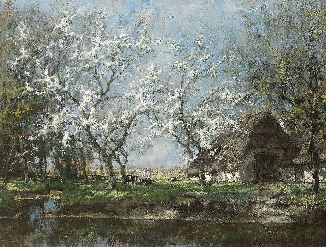 Arnold Marc Gorter | An orchard in full bloom, oil on canvas, 75.5 x 99.8 cm, signed l.r.