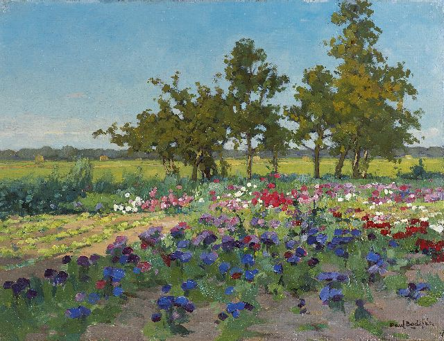 Paul Bodifée | A field of flowers, oil on canvas laid down on board, 25.5 x 33.2 cm, signed l.r.