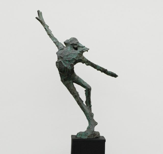 Jits Bakker | A dancer, bronze, 116.0 x 34.0 cm, signed on the bronze base