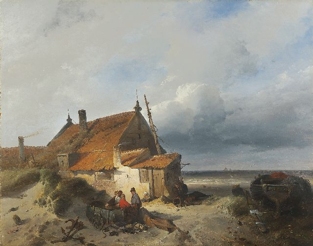 Charles Rochussen | Fisherman's cottage in the dunes, oil on panel, 48.0 x 60.5 cm, signed l.l. and dated '40