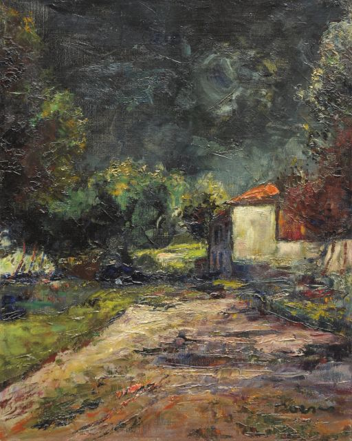 Jacobus Doeser | Cottage in a forest, oil on canvas, 50.4 x 40.4 cm, signed l.r.