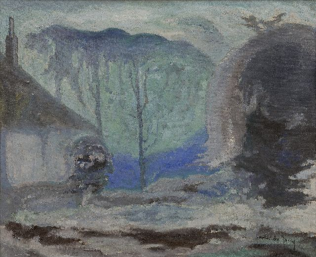 Germ de Jong | A winter landscape, oil on canvas, 41.2 x 50.0 cm, signed l.r. and painted circa 1918