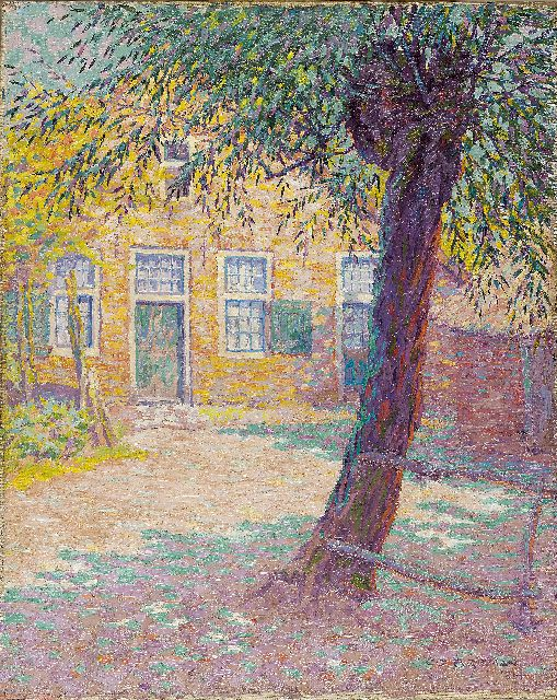 Co Breman | House in the sun, Laren, oil on canvas, 56.4 x 45.1 cm, signed l.r. and dated 1914