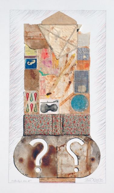 Kleij T.J.  | Archaeology, collage on formica 80.0 x 50.0 cm, signed l.r. and dated '82