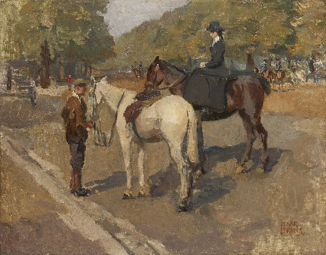 Israels I.L.  | A ride in Hyde Park, London, oil on canvas, 70.2 x 89.2 cm, signed l.r.