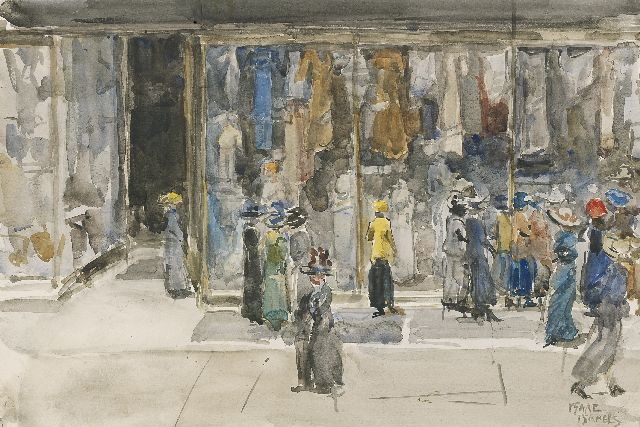 Israels I.L.  | The fashion house, watercolour on paper, 35.8 x 53.3 cm, signed l.r.