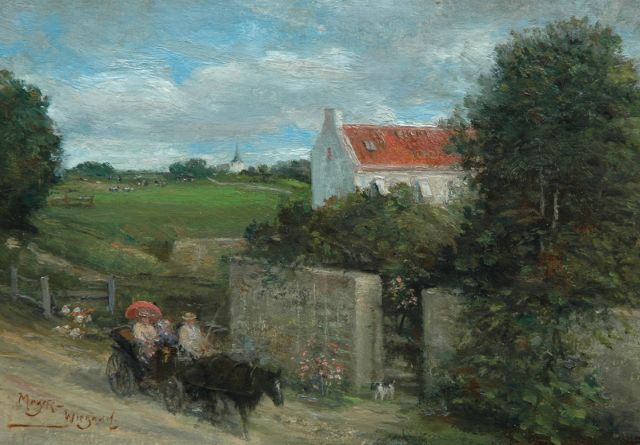 Rolf Dieter Meyer-Wiegand | Sunday ride in a calèche, oil on panel, 14.0 x 20.0 cm, signed l.l.