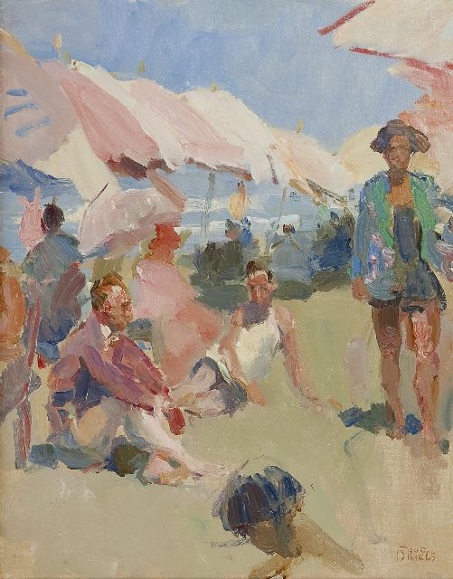 Israels I.L.  | The beach, Viareggio, oil on canvas, 50.2 x 40.0 cm, signed l.r. and painted circa 1920