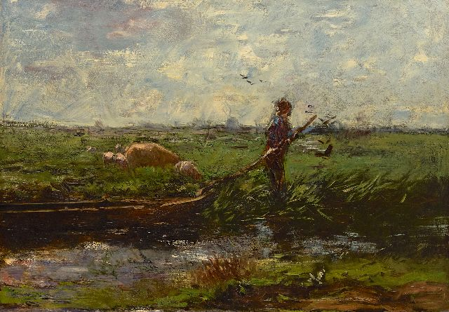 Maris W.  | A polder landscape, oil on canvas 66.3 x 94.5 cm, painted ca. 1906