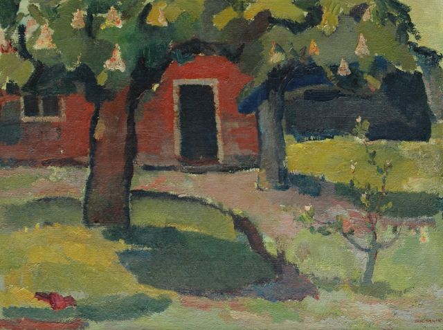 Jan Kagie | Farm in the spring, oil on canvas, 59.9 x 80.2 cm, signed l.r. and on the stretcher and to be dated ca. 1956-1957