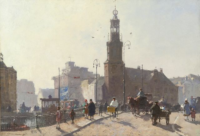 Cornelis Vreedenburgh | The 'Munt', Amsterdam, oil on canvas, 47.8 x 70.0 cm, signed l.l. and painted 1926