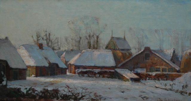 David Schulman | Winter in Blaricum, oil on canvas, 31.6 x 59.4 cm, signed l.r.